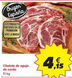 Oferta de Chuleta de aguja de cerdo por 4,15€