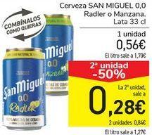 Oferta de Cerveza SAN MIGUEL 0,0 Radler o Manzana  por 0,56€