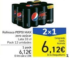 Oferta de Refresco PEPSI MAX zero azúcar por 6,12€