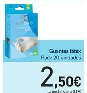 Oferta de Guantes látex por 2,5€
