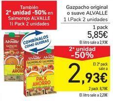 Oferta de Gazpacho original o suave ALVALLE  por 5,85€