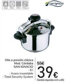 Oferta de Olla a presión clásica Mod. Córdoba SAN IGNACIO por 39€