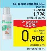 Oferta de Gel hidroalcohólico SAC por 1,79€