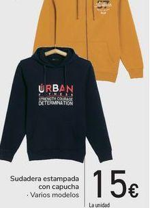 Oferta de Sudadera estampada con capucha  por 15€