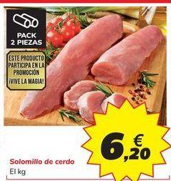 Oferta de Solomillo de cerdo por 6,2€