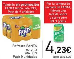 Oferta de Refresco FANTA Naranja  por 4,23€