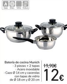 Oferta de Batería de cocina Munich  por 12€