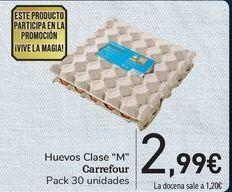 Oferta de Huevos Clase M Carrefour  por 2,99€