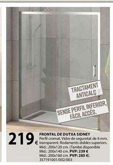 Oferta de Mampara de ducha por 219€