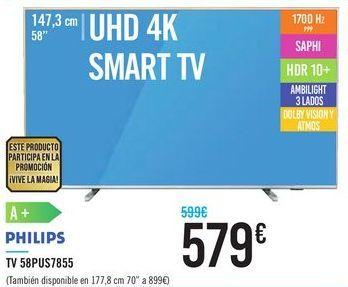 Oferta de TV 58PUS7855 PHILIPS por 579€