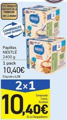 Oferta de Papillas NESTLÉ por 10,4€