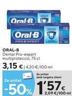 Oferta de Dentífrico Oral B por 3,15€