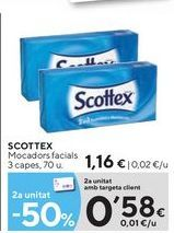 Oferta de Pañuelos de papel Scottex por 1,16€