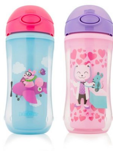 Oferta de CANTIMPLORA DEPORTIVA 300ml STRAW SPORT CUP GIRL SQUIRREL por 6,49€