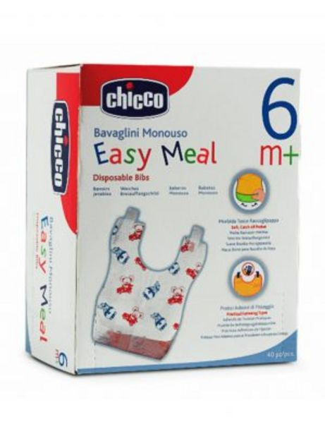 Oferta de PACK 40 BABEROS DESECHABLES EASY MEAL por 10,84€