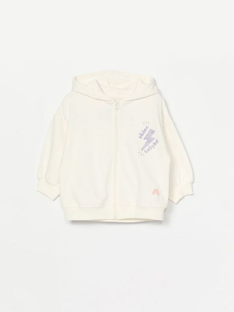 Oferta de Chaqueta de felpa con capucha por 6,99€