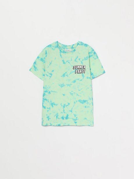 Oferta de Camiseta con estampado tie dye por 6,99€
