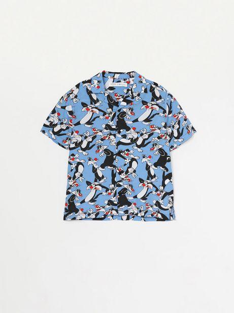 Oferta de Camisa estampada de Silvestre Looney Tunes © &™ WARNER BROS por 6,99€