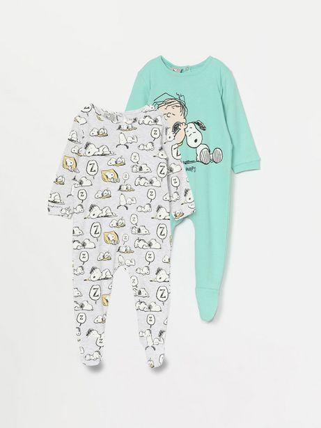 Oferta de Pack de 2 pijamas de Snoopy Peanuts™ por 12,99€
