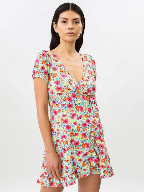 Oferta de Vestido cruzado de manga corta por 9,99€
