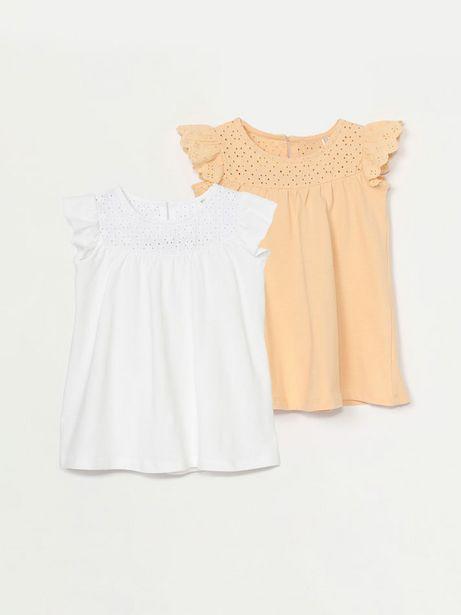 Oferta de Pack de 2 vestidos troquelados de manga corta por 12,99€