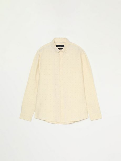Oferta de Camisa Oxford estampada por 15,99€