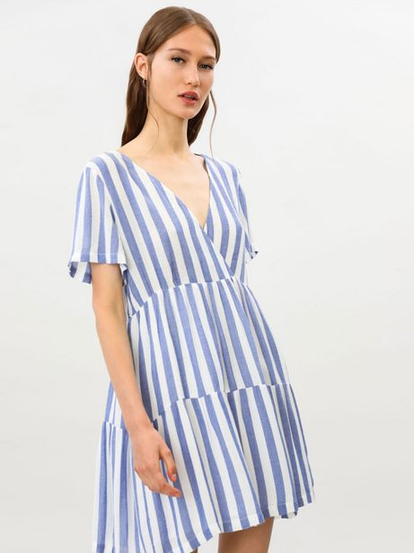 Oferta de Vestido fluido de rayas por 15,99€