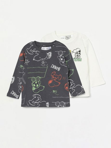 Oferta de Pack de 2 camisetas de manga larga de Snoopy Peanuts™ por 9,99€