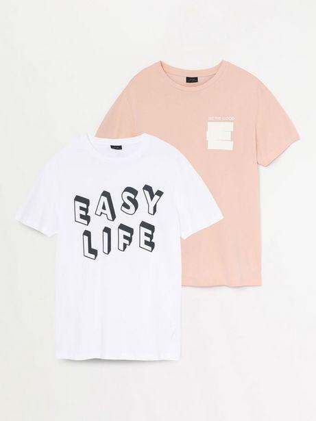 Oferta de Pack de 2 camisetas estampadas por 5,99€
