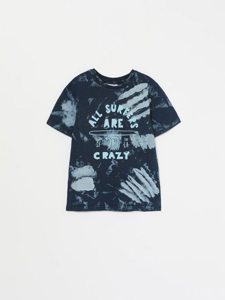 Oferta de Camiseta con estampado tie dye por 4,89€