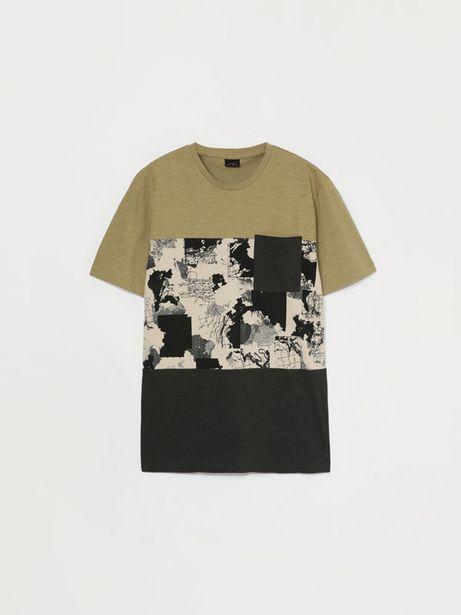 Oferta de Camiseta de manga corta estampada por 6,29€