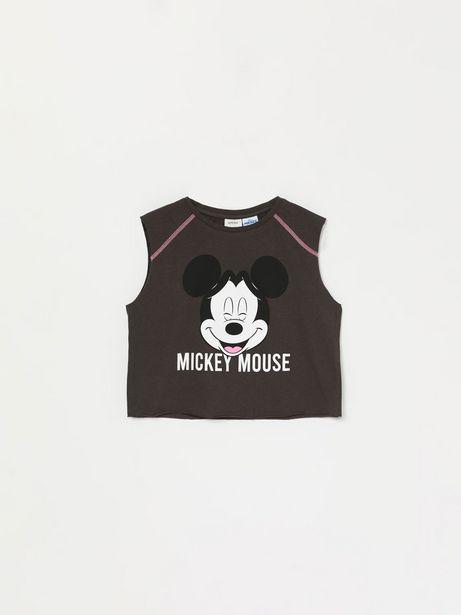 Oferta de Camiseta crop sin mangas de Mickey © Disney por 6,99€
