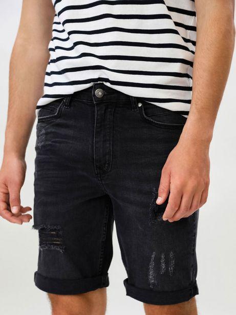 Oferta de Bermuda Comfort Slim con rotos por 19,99€