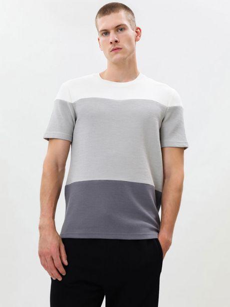 Oferta de Camiseta color block otomán por 8,99€