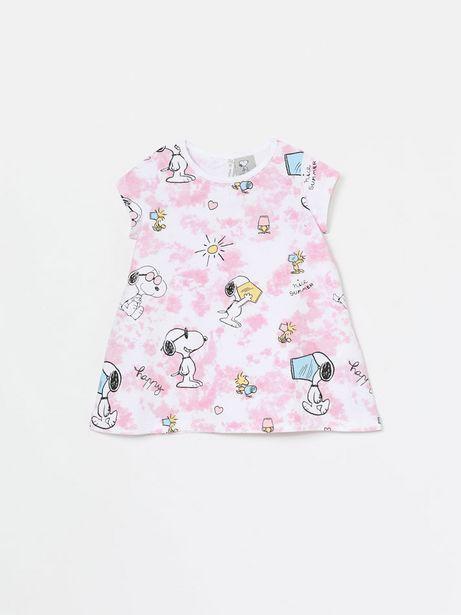 Oferta de Vestido de manga corta tie dye de Snoopy Peanuts™ por 7,99€