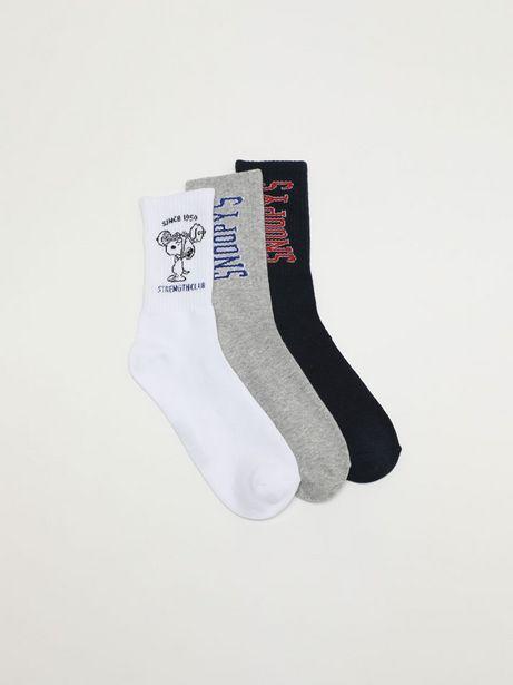 Oferta de Pack de 3 pares de calcetines Snoopy - Peanuts™. por 5,99€