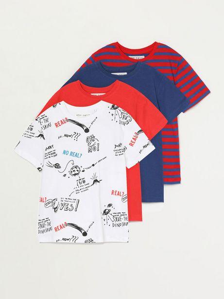 Oferta de Pack de 4 camisetas combinadas por 9,99€