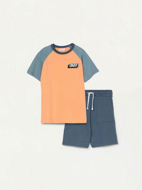 Oferta de Conjunto de camiseta y bermuda de 2 piezas por 6,99€