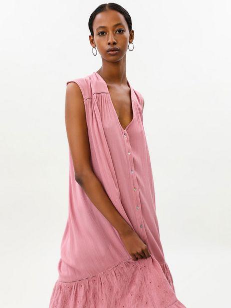 Oferta de Vestido midi oversize bordado por 19,99€