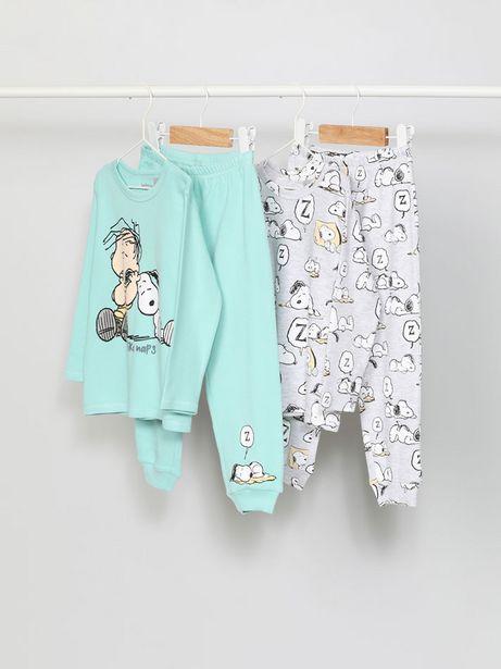 Oferta de Pack de 2 conjuntos de pijama de Snoopy Peanuts™ por 12,99€