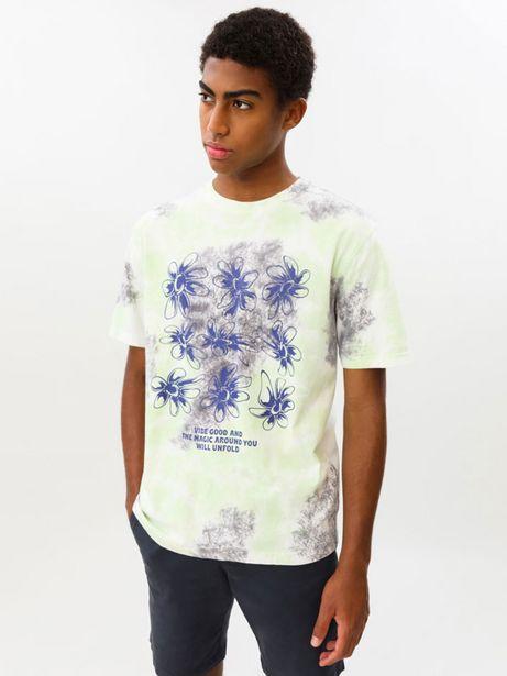 Oferta de Camiseta tie dye estampada por 6,29€