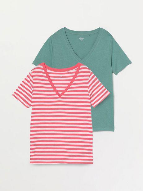 Oferta de Pack de 2 camisetas con escote en pico por 8,99€