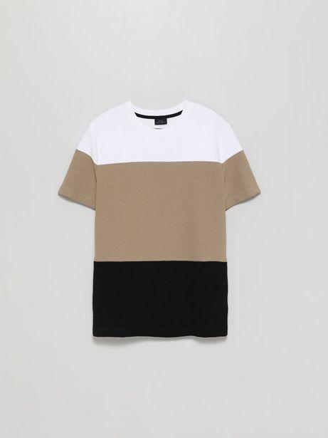 Oferta de Camiseta color block ottoman por 8,99€