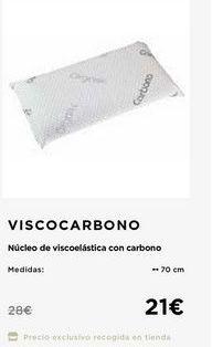 Oferta de Almohada núcleo de viscoelastica con carbono Viscocarbono  por 21€