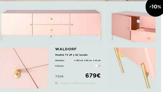 Oferta de Mueble tv 2p Y 2C lacado  por 679€