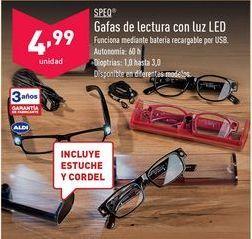 Oferta de SPEO Gafas de lectura con luz LED. por 4,99€