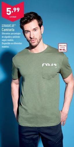 Oferta de Camiseta Straight UP.  por 5,99€
