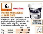 Oferta de Pintura antimanchas eurotex por 6€