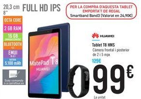 Oferta de Tablet T8 HMS HUAWEI por 99€