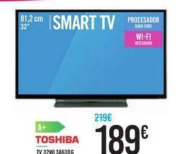 Oferta de TV 32WL3A63DG TOSHIBA por 189鈧�
